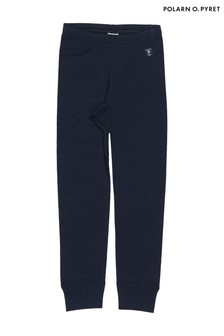 Polarn O. Pyret Blue Soft Merino Long Johns