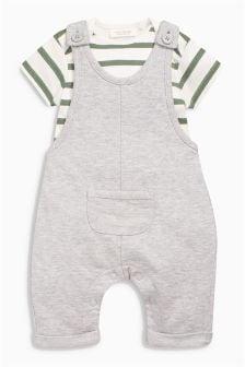 针织背带裤和连体衣 (0个月-2岁)