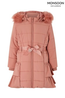 Monsoon Pink Rosa Padded Coat