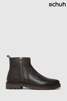 Schuh Brown Marcus Side Zip Boots