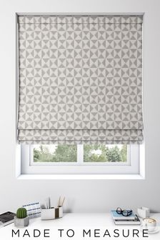 Monde Graphite Natural Made To Measure Roman Blind
