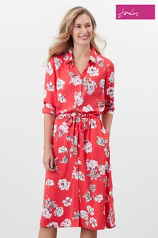 Joules Red Winslet Shirt Dress