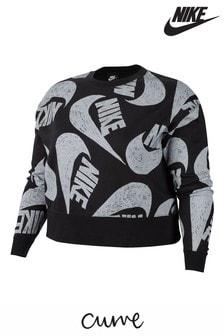 Nike Curve Black JDI. Logo Crew Sweater