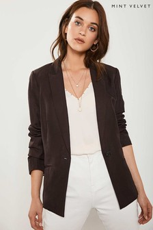 Mint Velvet Chocolate Tailored Blazer