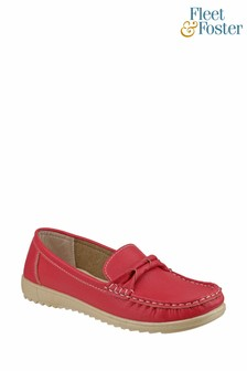 Fleet & Foster Red Paros Loafer Shoes