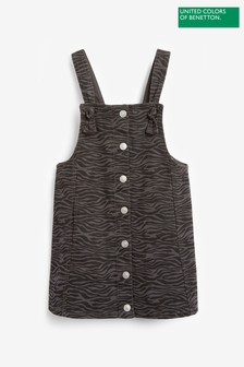 Benetton Animal Print Pinafore