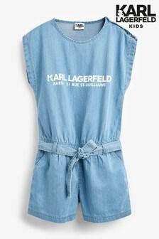 Karl Lagerfeld Kids Denim Playsuit