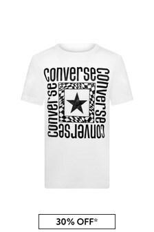 Converse Boys White Cotton T-Shirt