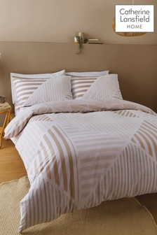 Catherine Lansfield Blok Geo Duvet Cover and Pillowcase Set