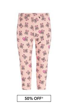 Moschino Kids Baby Girls Pink Cotton Leggings