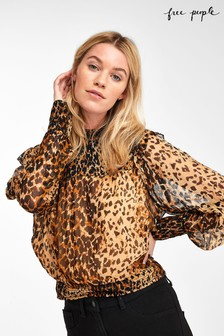 Free People Leopard Print Roma Blouse
