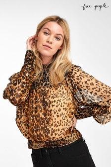 Блузка с леопардовым принтом Free People Roma