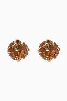 Plated Cubic Zirconia Stud Earrings