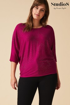 Studio 8 Purple Selena Star Knit Top