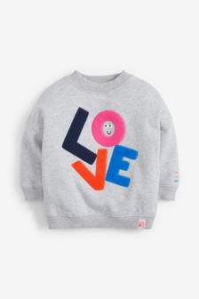 Love Bouclé Sweatshirt (3mths-8yrs)