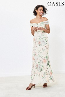 Oasis Natural Bardot Bridesmaid Dress