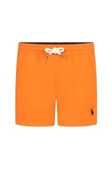 Ralph Lauren Kids Boys Orange Swim Shorts