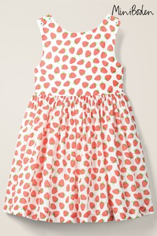 Mini Boden White Cross Back Dress