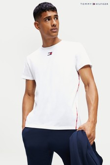 Tommy Hilfiger White Branded Piping T-Shirt