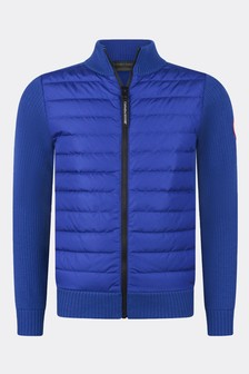 Canada Goose Boys Blue Youth Hybridge Knit Jacket