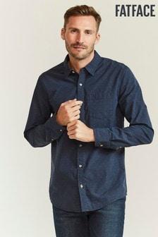 FatFace Blue Kinnerton Dobby Shirt
