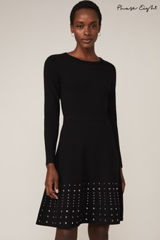 Phase Eight Black Accalia Stud Fit And Flare Dress