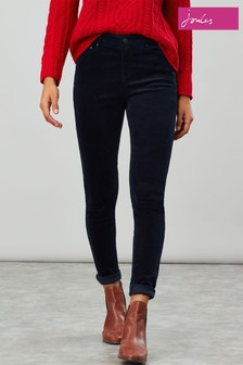 Joules Blue Monroe Cord High Rise Stretch Cord Trousers