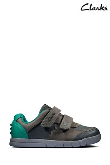 Clarks Dark Grey Lea Rex Quest T Shoes