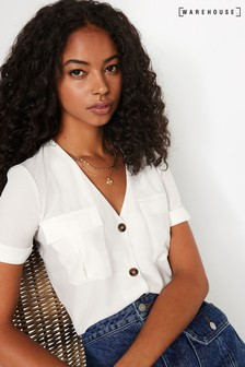 Warehouse Cream Utility Pocket Front Top