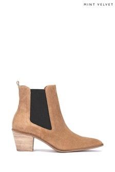 Mint Velvet Jenni Sand Pointed Ankle Boot