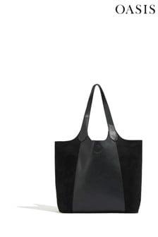 Oasis Black Scoop Shopper Bag