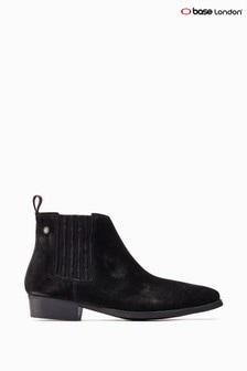 Base London® Black Monroe Ankle Boots