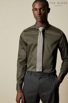 Ted Baker Green Zendayr Plain Cotton Blend Shirt