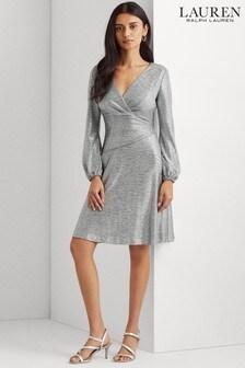 Lauren Ralph Lauren® Silver Stretch Goldie Cocktail Dress