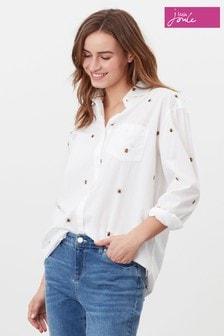 Joules Cream Amilia Dropped Shoulder Shirt