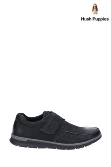 Hush Puppies Black Duke Touch Fastening Shoes
