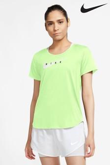 Nike Yellow Swoosh Run T-Shirt