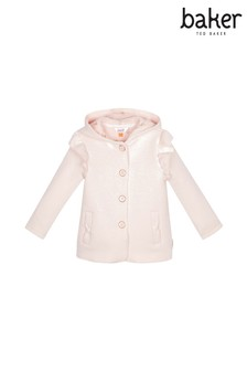 baker by Ted Baker Light Pink Frill Hooded Sweater