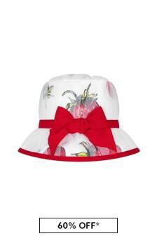 Monnalisa Girls White Cotton Hat