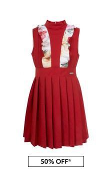 Jessie And James Girls Red Amelia Dress