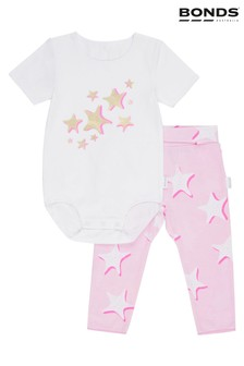 Bonds Pink Wonderbody And Leggings Set