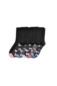 Butterfly Stripe Socks Five Pack