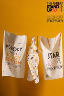 The Great Stand Up To Cancer Bake Off 2021 Star Baker Set of 3 Tea Towels
