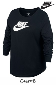 Nike Curve Black Essential Long Sleeved T-Shirt