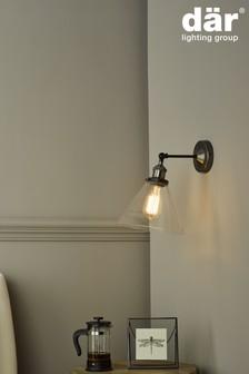 Dar Lighting Silver Ray Wall Light