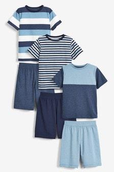 3 Pack Stripe Short Pyjamas (3-16yrs)