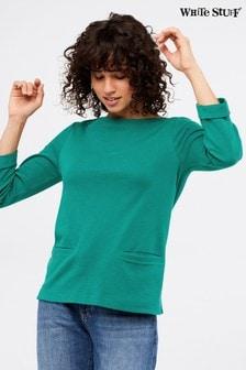White Stuff Green Fern Jersey T-Shirt