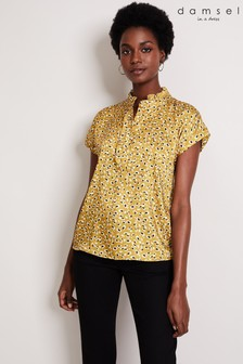 Damsel In A Dress Yellow Aimee Leopard Shirt