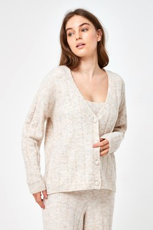Knitted Rib Cardigan And Vest