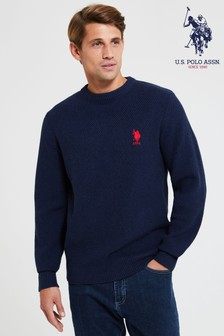U.S. Polo Assn. Waffle Knit Crew Sweater